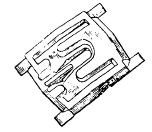 NP784757 Rear Quarter Moulding Clip Front Of Wheel Opening