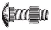 "N03414 Bumper Bolts with Hex Nuts 3/8""-16 x 7/8"""