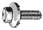 "N09756 5/16""-18 x 1"" Hex Head Sems Body Bolt"